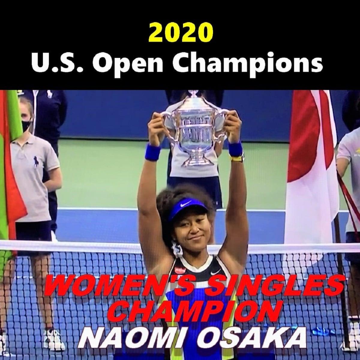 全米オープンテニス2020 女子シングルスを優勝した大坂なおみ