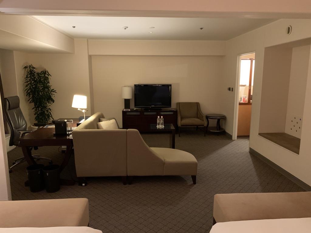 シェラトン都ホテル大阪 プレミアムシェラトンスイート 宿泊記 SPGアメックス 特典 アップグレード