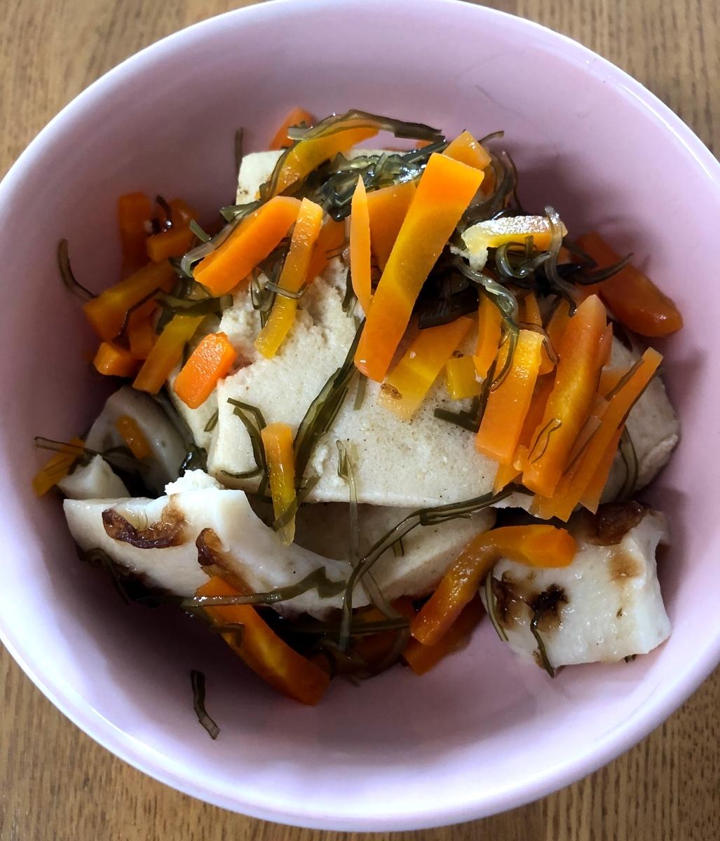 高野豆腐と霧昆布の煮物