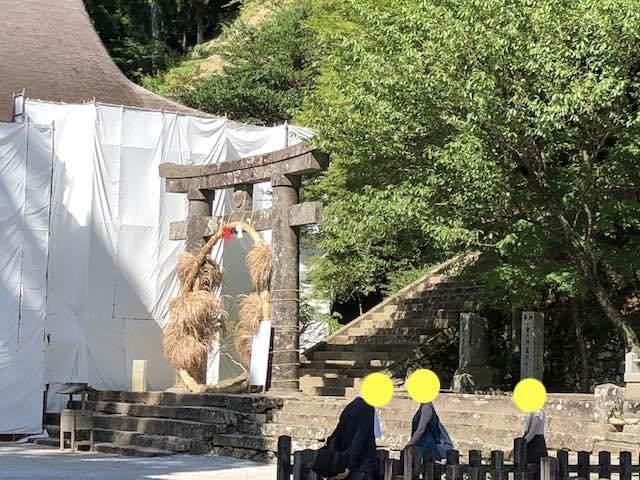 英彦山神宮 奉幣殿は残念ながら工事中でした。