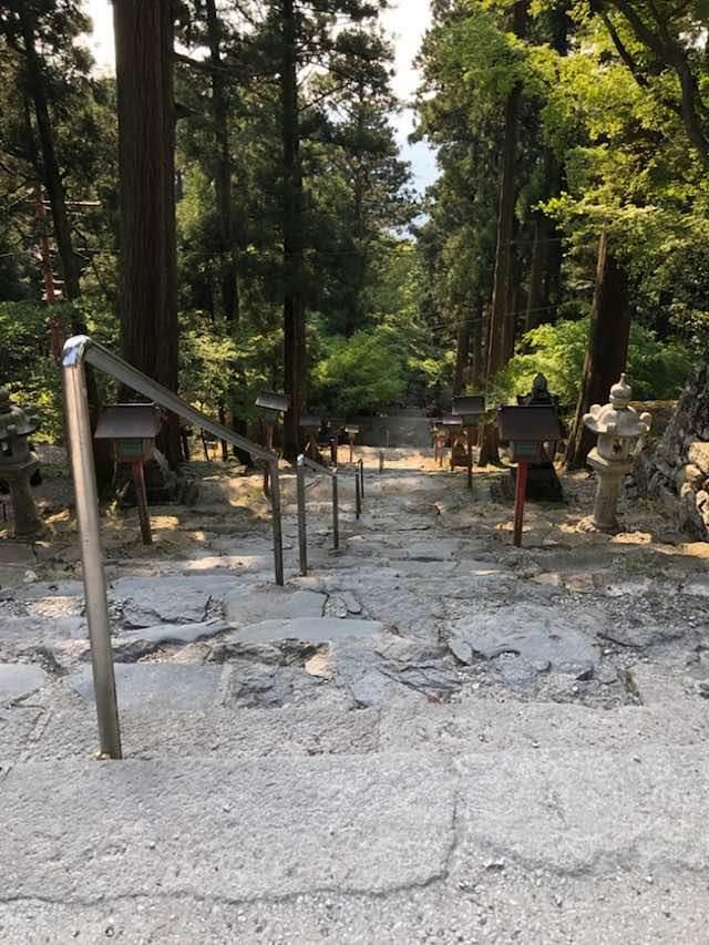英彦山神宮への階段