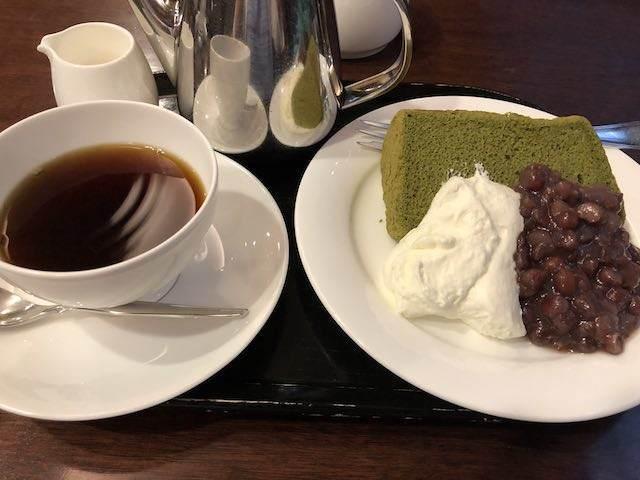 抹茶のケーキセット 900円