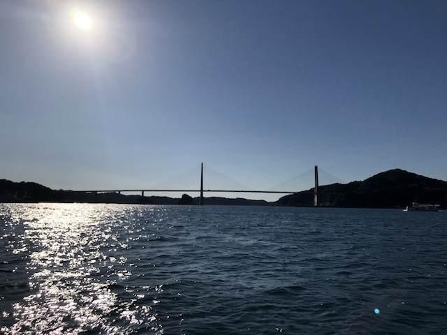 遊覧船イカ丸からの呼子大橋