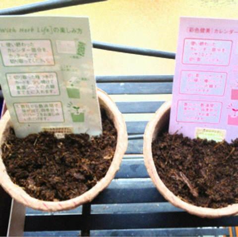 種子付きカレンダー