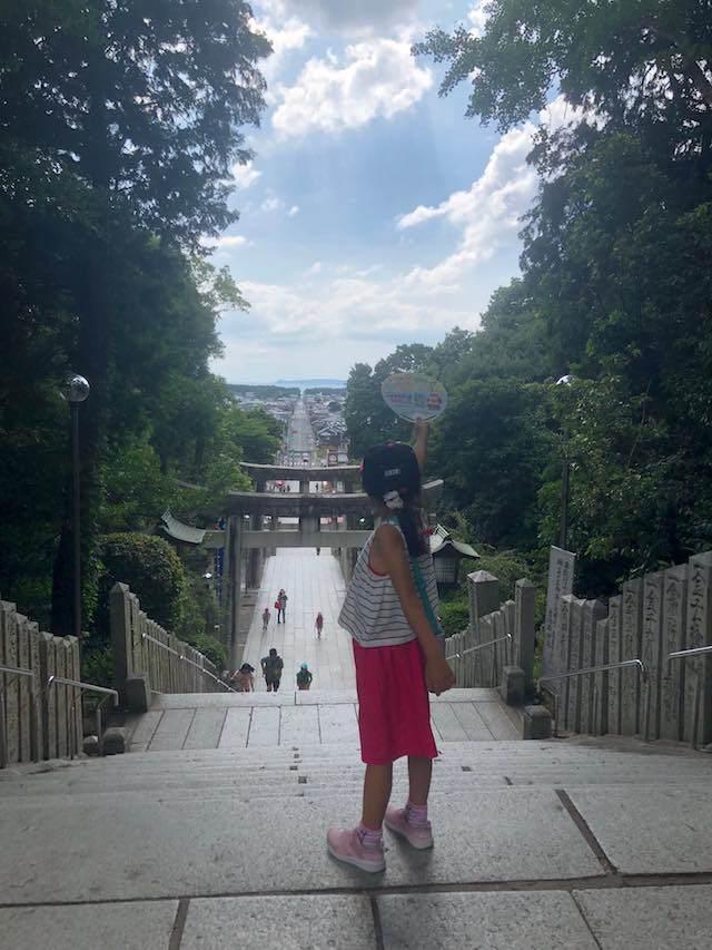 宮地嶽神社(みやじたけじんじゃ)の海まで続く参道