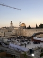 Dome of the rock and Wailing wall 岩のドームと嘆きの壁