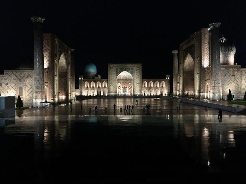 Registan Ensemble at Samarkand サマルカンドのレギスタン広場