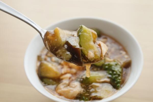 胡瓜と茄子の滋味スープ