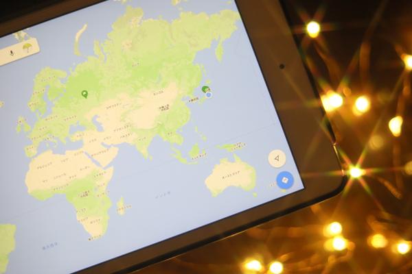 星空と世界地図