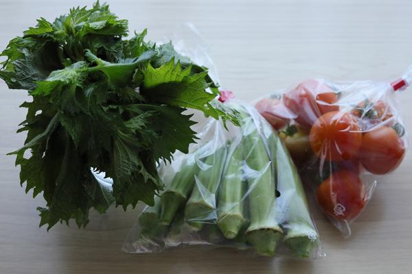 無人販売の野菜