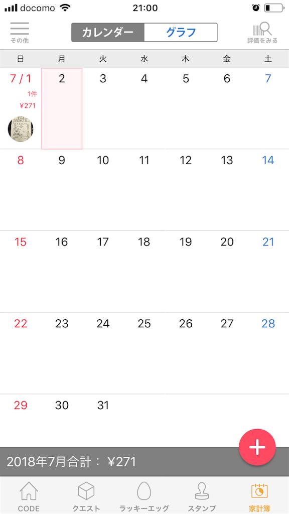 家計簿アプリ「CODE」