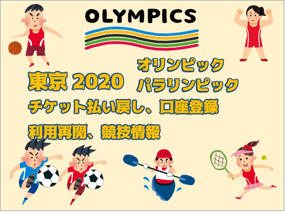 払い戻し 東京 オリンピック チケット 東京2020オリンピックチケットの払い戻し申請手順を詳細解説