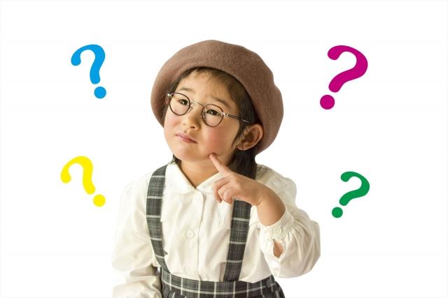 幼稚園受験において、わからなくて考え中の園児