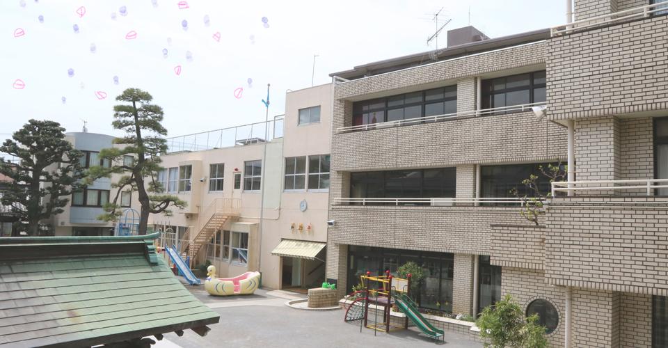 大楽幼稚園の園庭