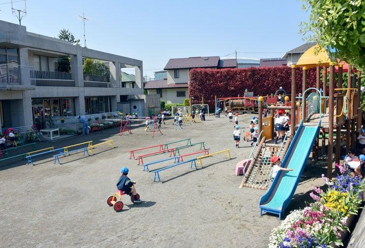 横浜黎明幼稚園 園庭