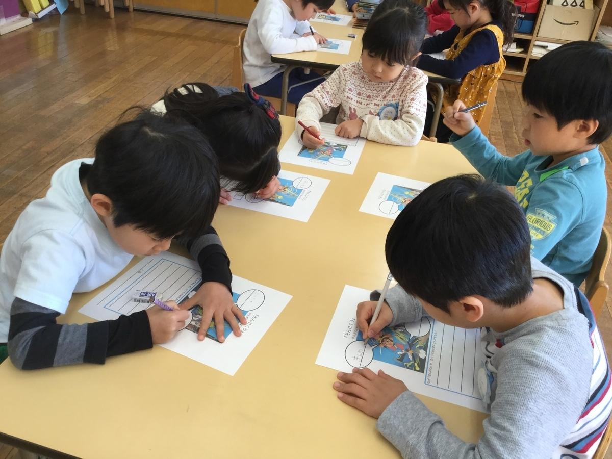 やまた幼稚園 園児 お絵描き