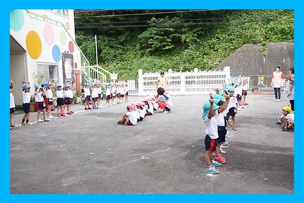 ナザレ幼稚園 運動会の練習