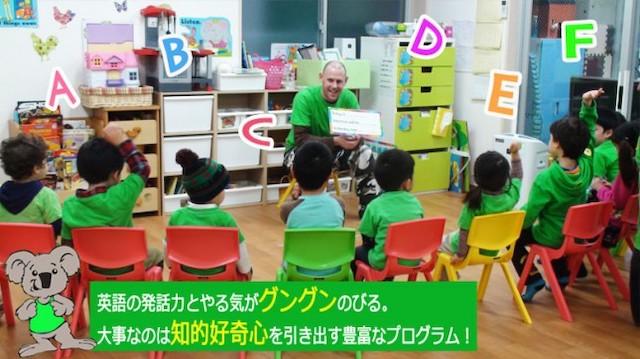 ワールドキッズキンダーガーデンで英語の勉強をする子どもたち