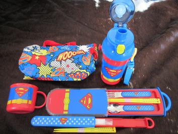 スーパーマン 弁当 箸 コップ 水筒