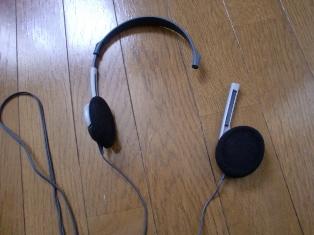 キーボードのヘッドフォン、ついに壊れた~(泣)