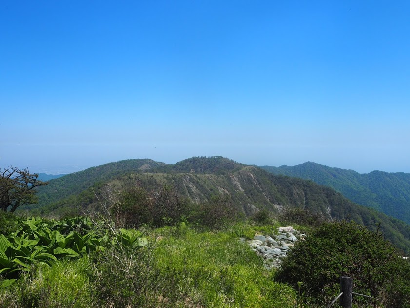 蛭ヶ岳からみる丹沢主脈