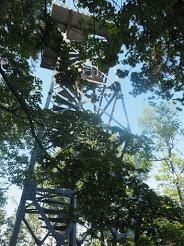焼岳の鉄塔