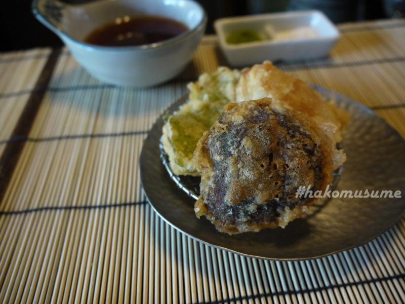 天ぷら-圓堂-椎茸-鯛-粟麩