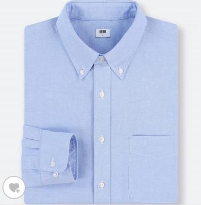 ユニクロのオックスフォードシャツ