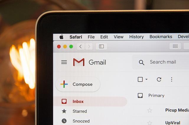Gmailを使っている画面の写真