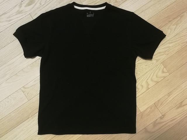 天竺編みガゼット付き半袖Tシャツの写真