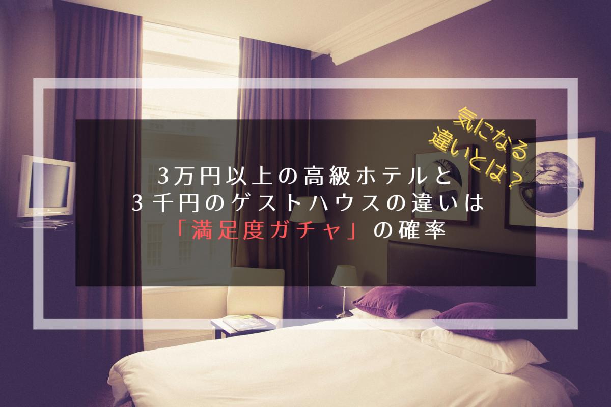 高級ホテルと格安宿の違いのイメージ写真