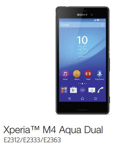 Xperia M4 Aqua (E2363)