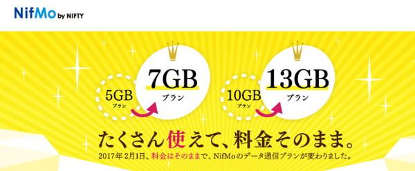 NifMoのデータ通信プラン