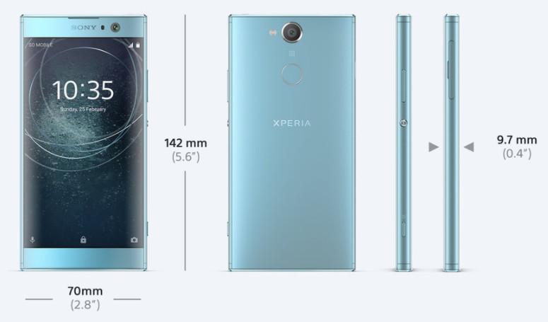 「Xperia XA2」サイズ