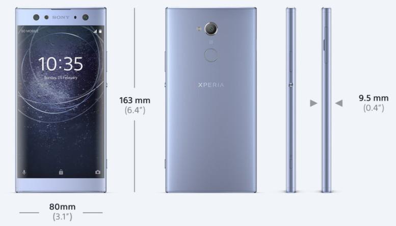 「Xperia XA2 Ultra」サイズ