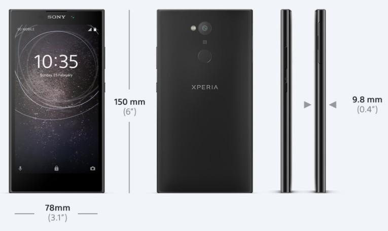 「Xperia L2」サイズ