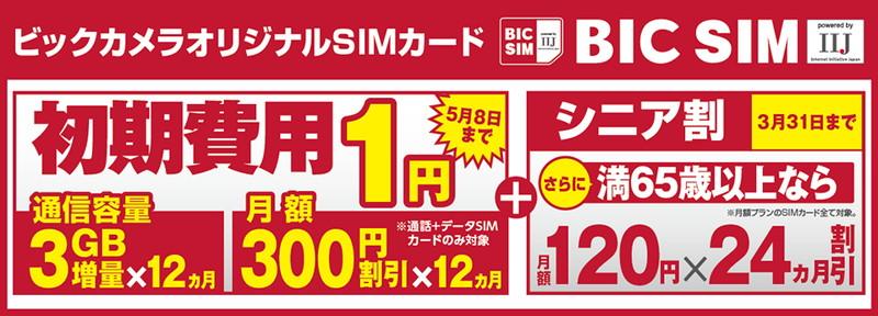 「BIC SIM」春キャンペーン