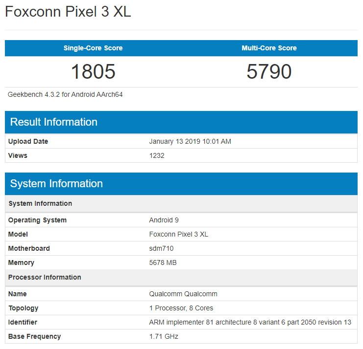 Foxonn Pixel 3 XL
