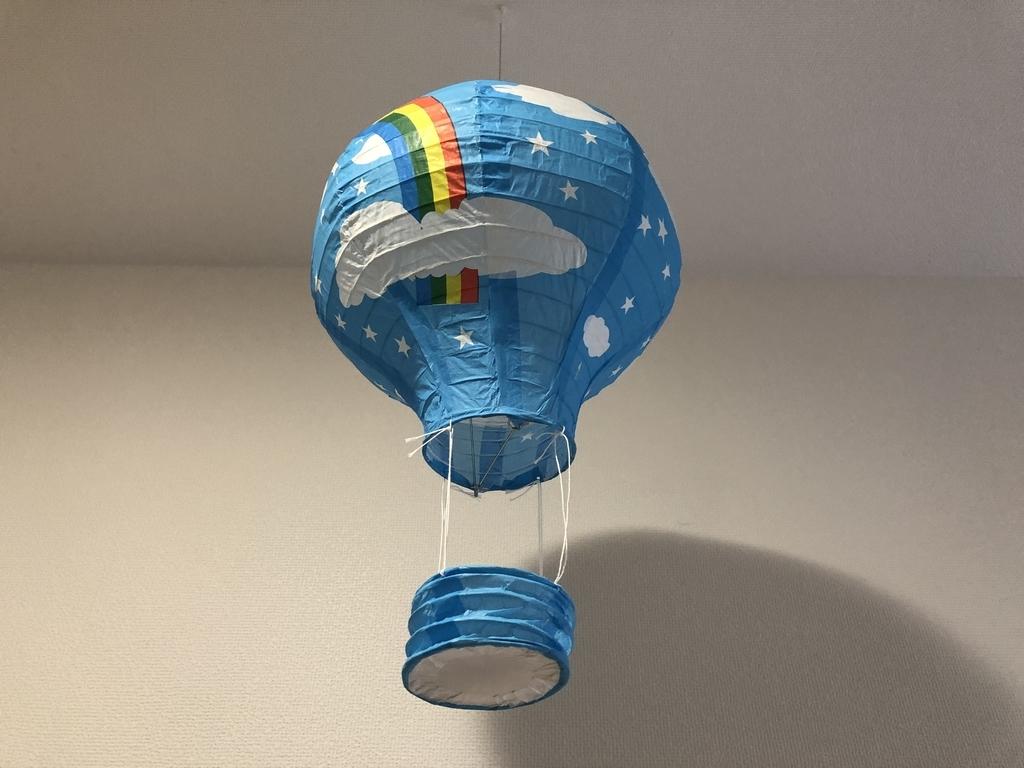 熱気球のモビール