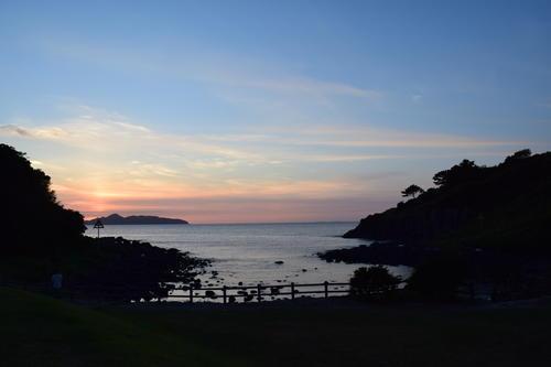 波戸岬キャンプ場の夕日