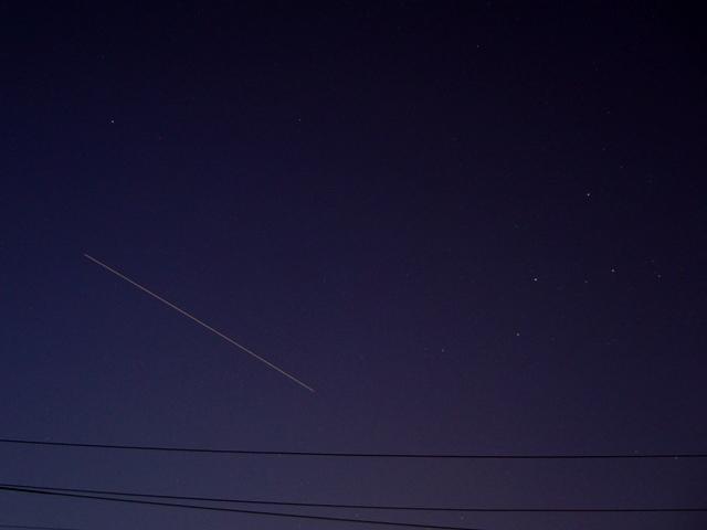 ISSとカシオペア座