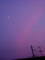 [空][夕焼け][月]夕暮れと半月2