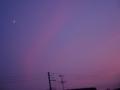 [空][夕焼け][月]夕暮れと半月1