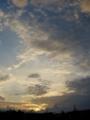 [空][夕焼け]夕暮れの空
