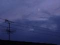 [空][月][天文]薄曇と三日月