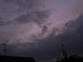 [空][夕焼け][月]夕暮れの空の三日月