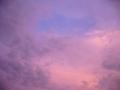 [空][夕焼け]ピンク色の夕焼け空