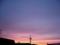 今日の赤い夕焼け空