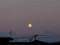 [空][月]昇る満月