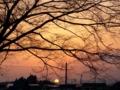 [風景][空][夕焼け]日の入り